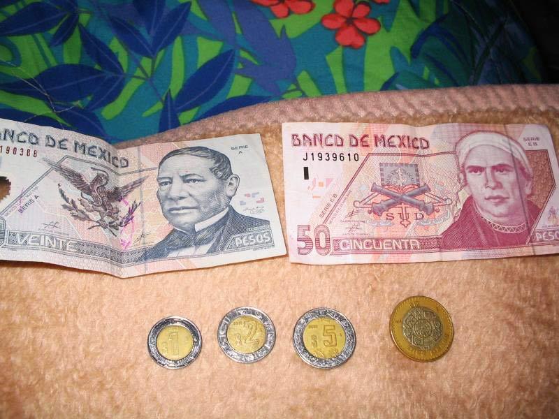 Денежные знаки Мексики