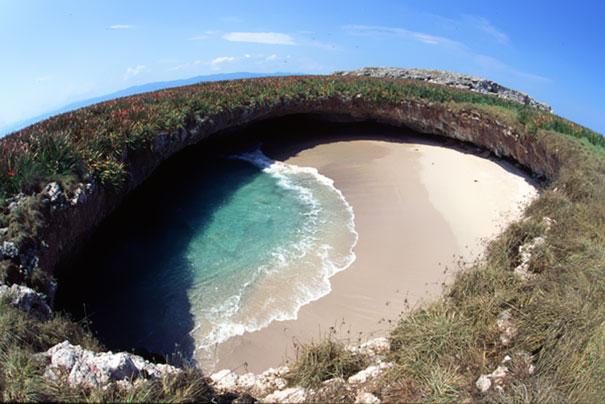 Скрытый пляж в мексике (фото)