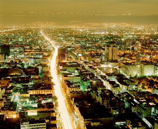 Мехико ночью