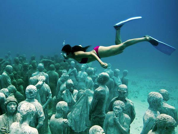 Мексика музей подводных скульптур