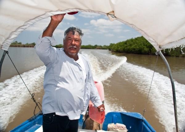 Мескальтитан на лодке